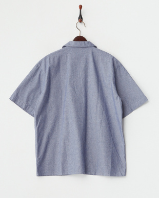 INDIGO SHORT-SLEEVED TAILORED COLLAR SHIRT見る