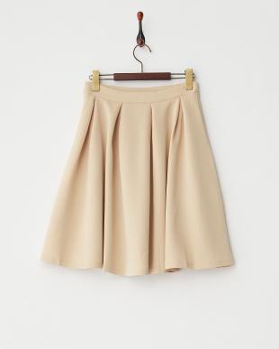ベージュ  ボンディングフレアスカート見る