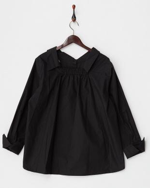 ブラック  コットンオフショルシャツ見る