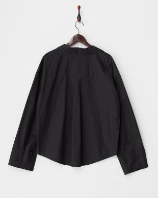 ブラック  BIGカフスコットンスキッパーシャツ見る