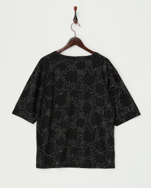 BLACK ROSE PRNT PUFF TEE チュニック見る