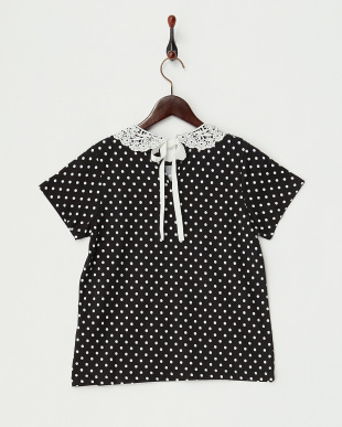 BLACK POLKADOT COLLAR トップス見る