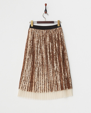 BRONZE P:SEQUIN PLEAT MIDI SKIRT見る