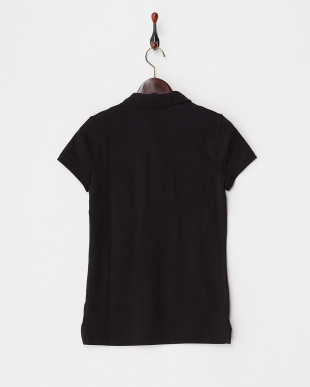 BLACK  WMNS POLO ワンポイント刺繍ポロシャツ見る