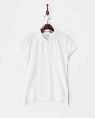 WHITE  WMNS POLO ワンポイント刺繍ポロシャツ見る