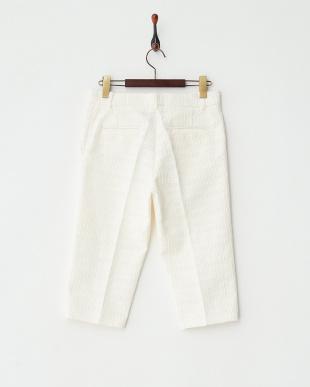 ivoire 柄織りカプリパンツ見る