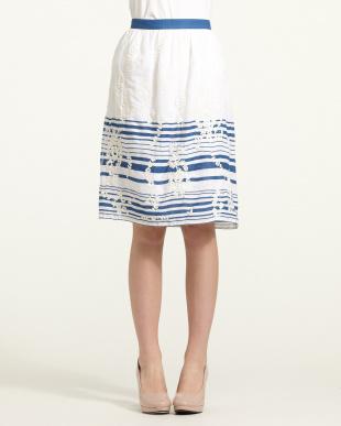 ivoire刺繍×ボーダースカート見る