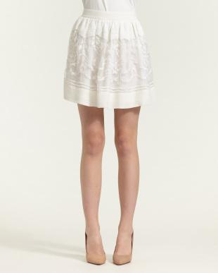 ivoire 刺繍切り替えスカート見る