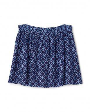 nuit シルク幾何学刺繍スカート見る