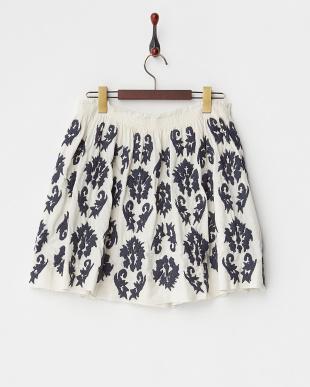 nuit ボタニカル風刺繍スカート見る