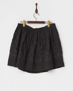 noir 刺繍切り替えスカート見る