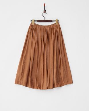 キャメル  ビンテージツイルギャザースカート見る