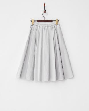グレー  コットン混スエード調フレアスカート見る