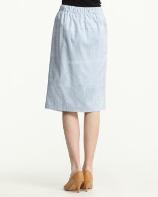 サックス  ラップ風ペイズリースカート見る