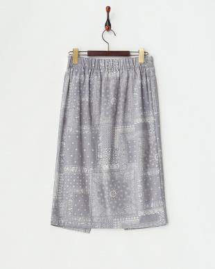 インディゴ  ラップ風ペイズリースカート見る
