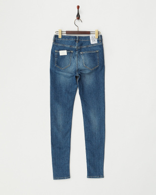 ブルー MID-HIGH RISE SKINNY-WORN BLUE見る