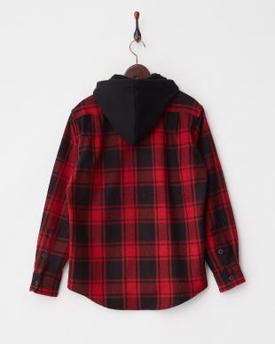 RED  フード付きシャツ見る