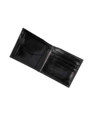 ブラック  イタリアンカーフ二つ折り財布見る
