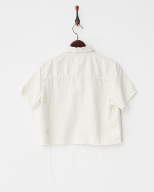 ホワイト カットオフ ツイルシャツ見る