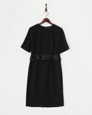 ブラック  フラワー2WAYドレス見る