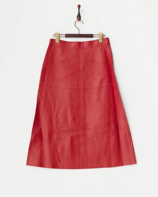 RED ART RACIANAS ラムレザースカート見る