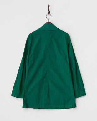 グリーン 製品染めステンカラーコート見る