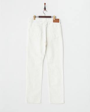 ホワイト  綿麻5ポケットパンツ見る
