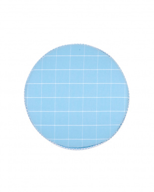 ブルー アニマル チェアークッション リバーシブル 40R×3cm見る