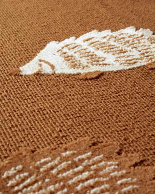 ブラウン ハリネズミ柄タフトラグ 130×180cm見る