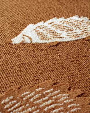ブラウン ハリネズミ柄タフトラグ 180×180cm見る