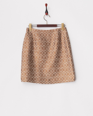 ブラウン系 ジャガードスカート見る