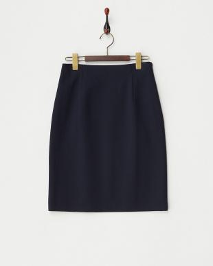 ネイビー  オーガンジーポンチインナー付スカート見る
