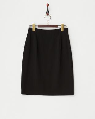 ブラック  オーガンジーポンチインナー付スカート見る