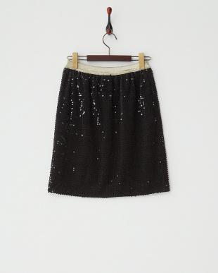 ブラック フロッキースパンコールスカート見る