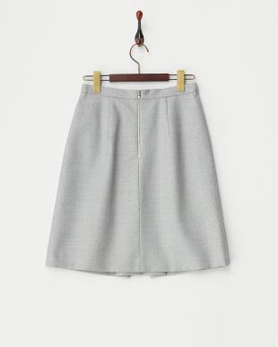 グレー フラノボンディングスカート見る