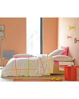 PINK ダブル 3点セット(掛布団カバー、ボックスシーツ、枕カバー)見る