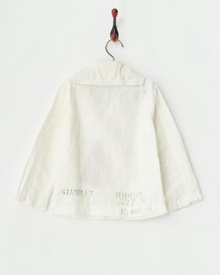 ホワイト  メンアサシャンブレー セーラー シャツ見る