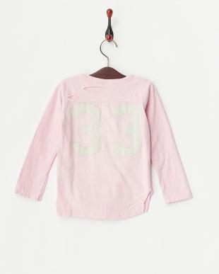 ピンク ビンテージテンジク33リメイクTシャツ見る