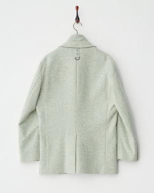 グリーン 中綿入り杢調アウタージャケット見る