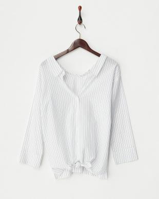 ホワイトストライプ  2WAYシャツ見る