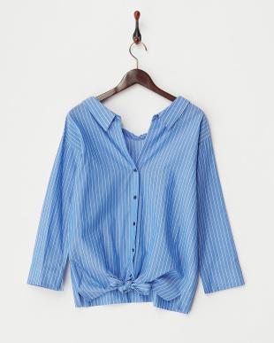 ブルーストライプ  2WAYシャツ見る