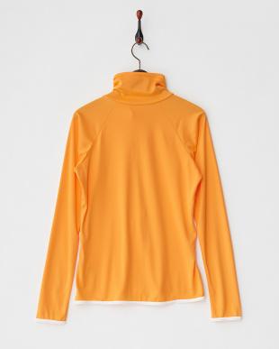 オレンジ  UPF50+UVハイネックZIPラッシュガード見る