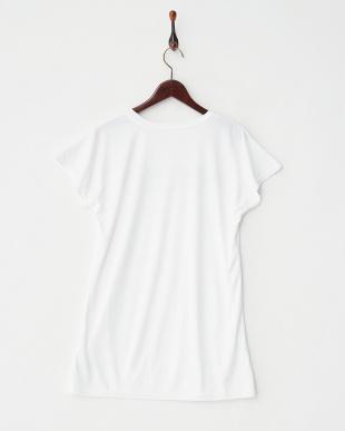ホワイト  ロゴ半袖ラッシュガード見る