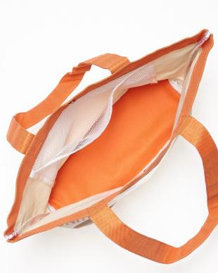 オレンジ  キャンバスビーチバッグ見る