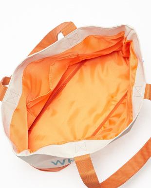 オレンジ エステルキャンバス ロゴトート見る