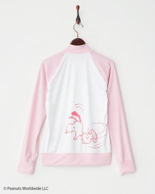 ピンク  スヌーピー ラッシュガードZIPジャケット見る