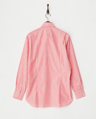 ピンク 70/-カラーロンドンストライプ シャツ見る