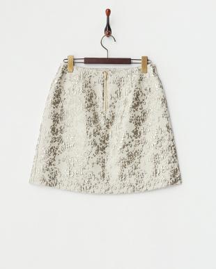 ゴールド  シャイニーカモフラージュ スカート見る