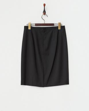 ブラック  セーブルツイル タイトスカート見る