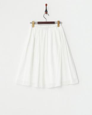 ホワイト  ドライダンガリー スカート見る